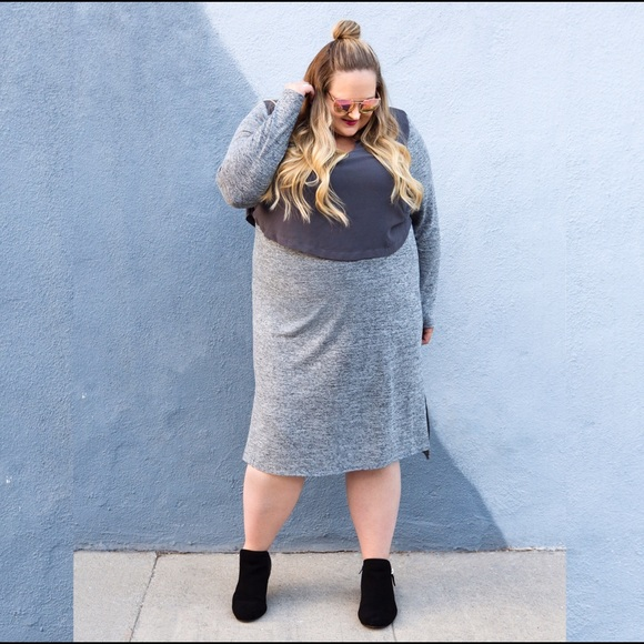 Lane Bryant Dresses & Skirts - LANE BRYANT Hooded Athleisure Dress